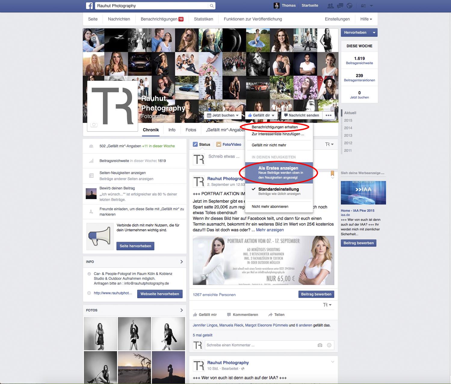 bitte zu facebook